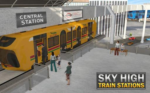 Elevated Train Driving Simulator: Sky Tram Driver apktram screenshots 12