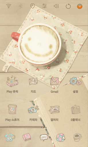 Vintage Cafe With Milky theme