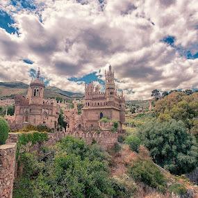 Castle Colomares by Inna Fangel - Buildings & Architecture Architectural Detail ( sky, spain, castle, architecture )