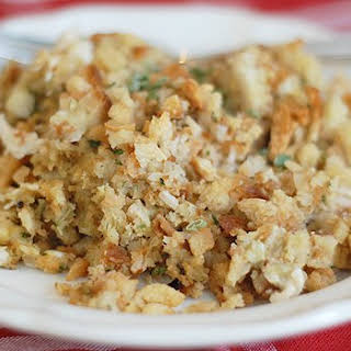 Chicken and Stuffing Casserole.