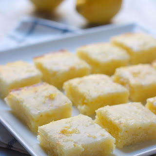 Gooey Lemon Blondies Recipe