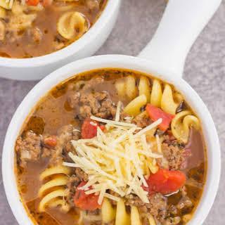 One Pot Lasagna Soup.