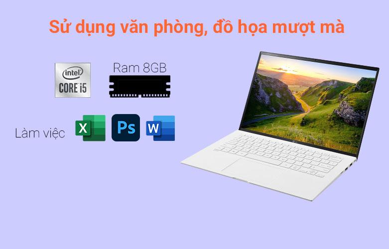 Laptop LG Gram 2021 14ZD90P-G.AX51A5 (i5-1135G7) (Trắng) | Hiệu năng tối ưu