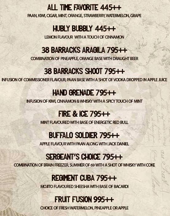 38 Barracks menu 1