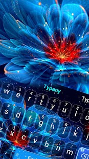 Neon Flower Typany keyboard - náhled