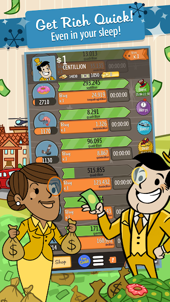 AdVenture Capitalist Android App Screenshot
