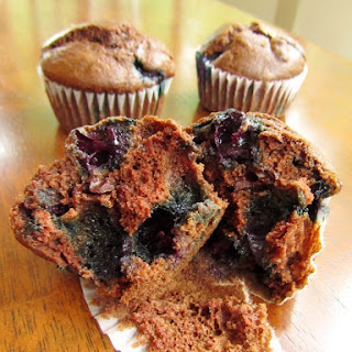 Dark Chocolate Blueberry Muffins