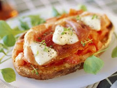 Bruschetta tomate et jambon de Parme