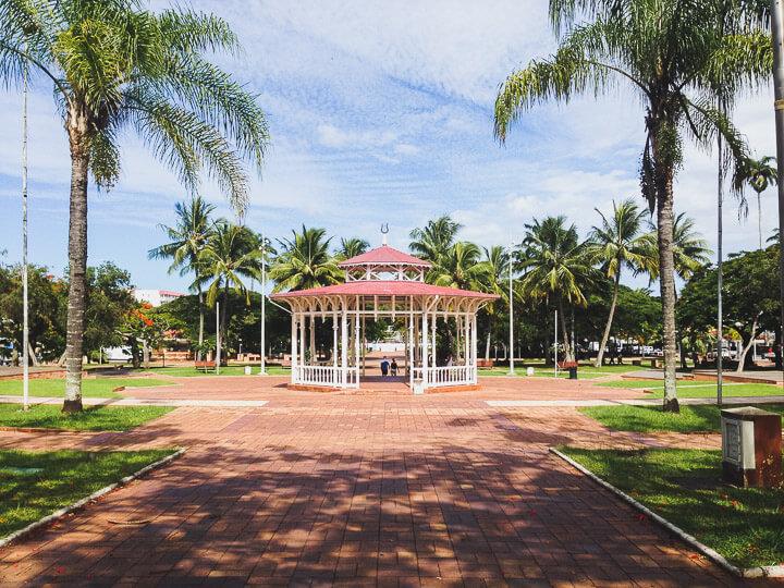 Noumea city centre pagoda in New Caledonia