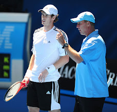 Photo: Great Britain's Andy Murray with Coach Ivan Lendl (right) during a practice session for the 2012 Australian Open at Melbourne Park in Melbourne, Australia.