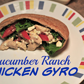 Cucumber Ranch Chicken Gyro