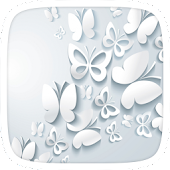 White Butterfly Theme