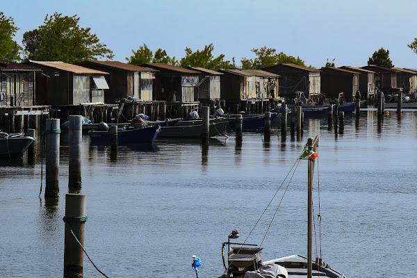 Case di pescatori nel Po di Bibanto