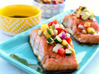 Glazed Salmon With Mango Salsa Recipe