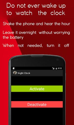 Night Speaking Clock