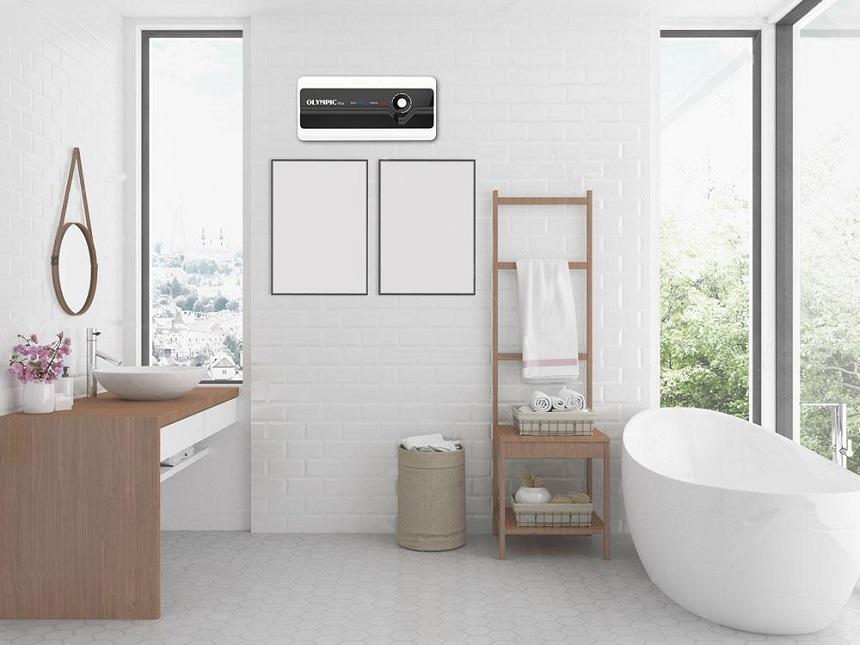 Lắp đặt bình nước nóng Olympic Plus cho nhà vệ sinh