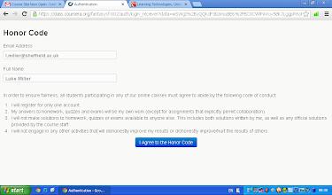 Photo: MOOC honor code