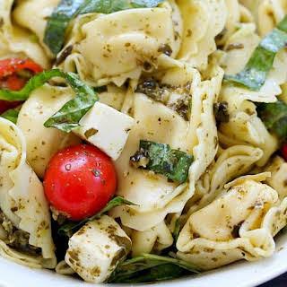 Easy Tortellini Pesto Salad.