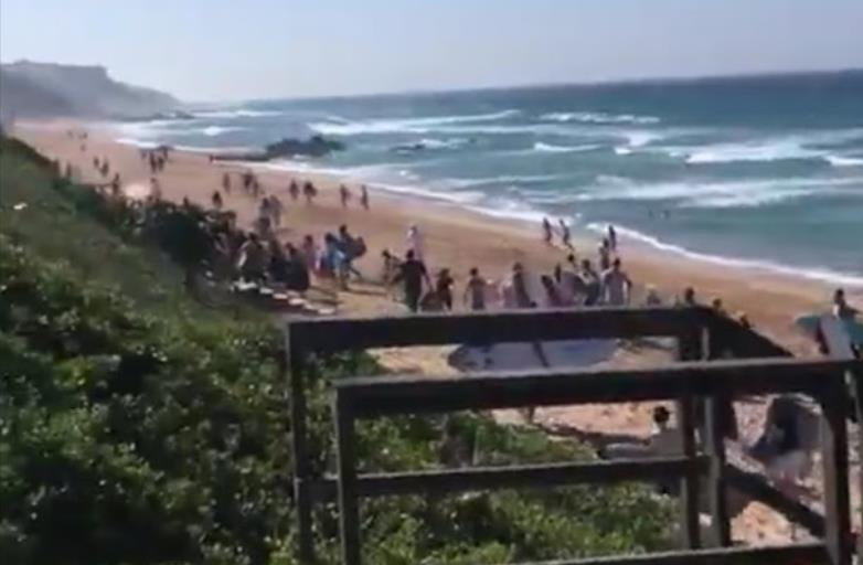 WATCH | Illegal beachgoers make a run for it from law-enforcement officials - TimesLIVE