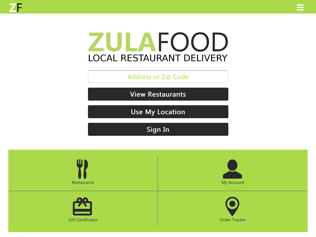 ZULAFOOD- screenshot