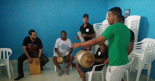 Cultural Entrepreneurship and performance for male inmates at Najayo jail with TED Fellow and tap dancer Andrew Nemr, artist Marcelo Ferder and Percussionist Edgar Molina