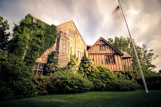 Photo: Skylands Manor  Nestled up in North New Jersey is the New Jersey Botanical Garden which also is home to Skylands Manor. The house is amazing from the outside I'm sure it is beautiful inside as well (although we didn't get to go in because a wedding was going on). If I didn't mention that this was in Jersey (and for the American flag) I think you could easily mistake this for somewhere in the English countryside.