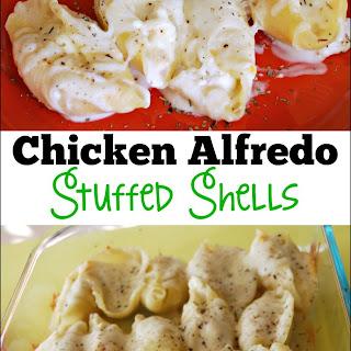 Chicken Alfredo Stuffed Shells.