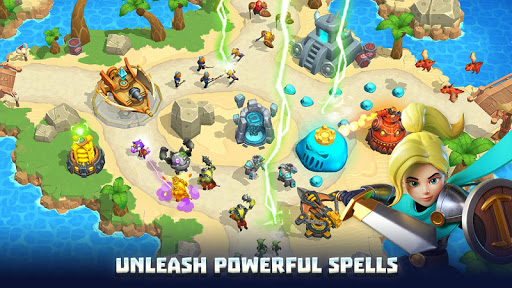Wild Sky TD: Tower Defense Legends in Sky Kingdom screenshots 18