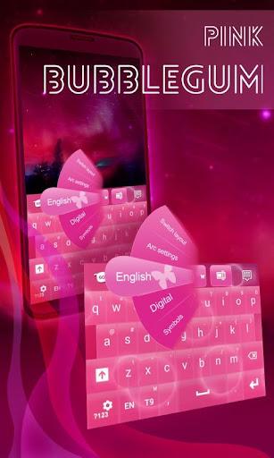 ピンクバブルガムGOキーボード