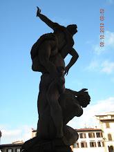 Photo: Rear view ofGiambologna's The Rape of the Sabine Women