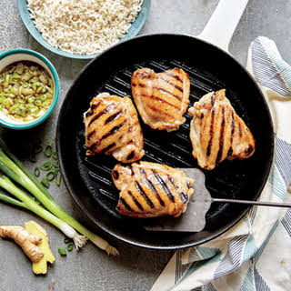 Grilled Chicken Thighs with Ginger Sauce.