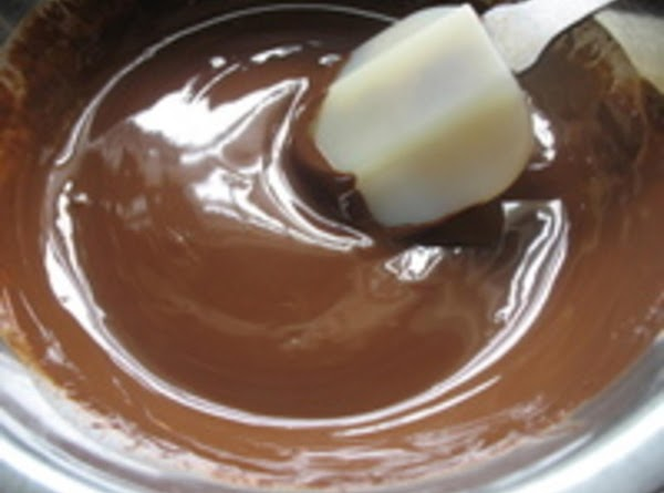 Melt chocolate in microwave bowl until melted...stirring regularly.
