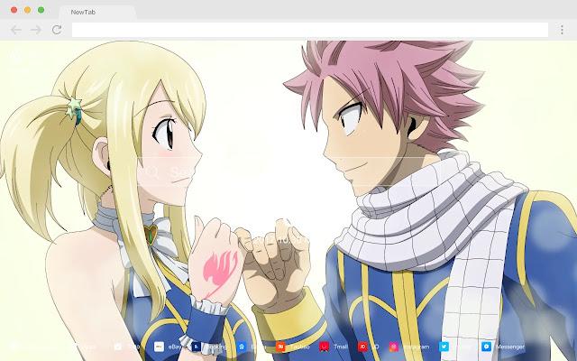 Natsu Dragneel HD Anime New Tabs Theme