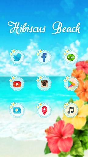 玩個人化App おしゃれなきせかえ壁紙★真夏のハイビスカスビーチ免費 APP試玩