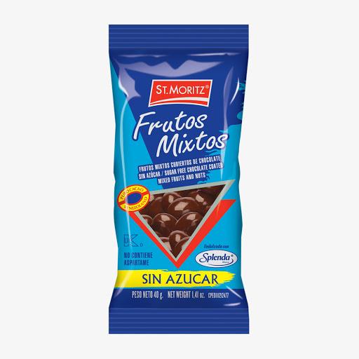 chocolate st moritz frutos mixtos c/chocolate s/a 40g