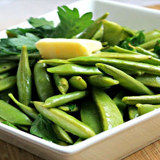 Ginger Parsley Snap Peas