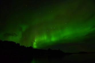 Photo: Et la surprise du retour : les aurores boréales ! avec la grande ours en prime !
