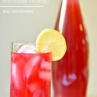 Hibiscus Tea Lemonade Cocktail.