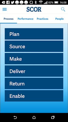 APICS SCOR Screenshot