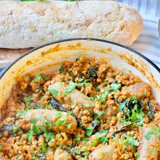 Sausage & Lentil Casserole with Cavolo Nero Recipe
