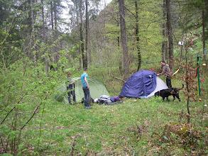 Photo: Die ersten Zelte werden aufgebaut