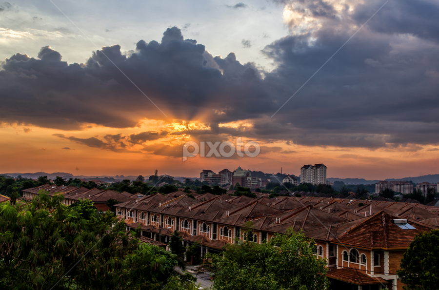 by Gary Yip - Landscapes Sunsets & Sunrises ( sky, villa, sunset, cloud, landscapes )