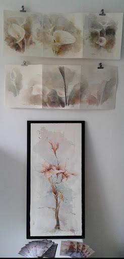 aquarelle Arum Jeanne PAPA 2021
