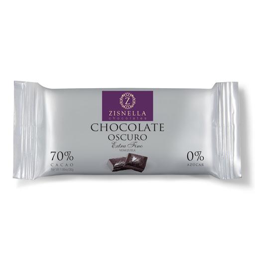 chocolate sin azucar zisnella oscuro 30gr