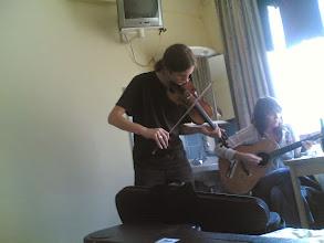 Photo: Repetitie in hotel (Berlijn)