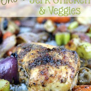 One Pan Jerk Chicken & Veggies.