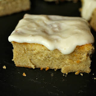 Almond Lime Cake w/ Honey Lime Frosting.