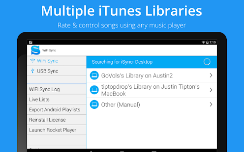 iSyncr for iTunes Screenshot