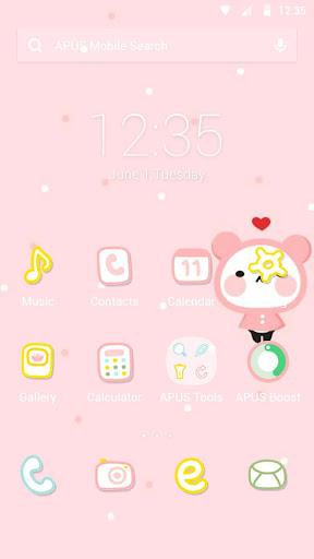 Lovely Panda theme for APUS