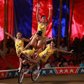 Balanced Ventures! by Balaji Mohanam - News & Events Entertainment ( performers, balancing act, cycle stunts, act, feat, circus )